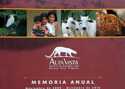 Memoria anual Alta Vista (Noviembre 2009-Diciembre 2010)