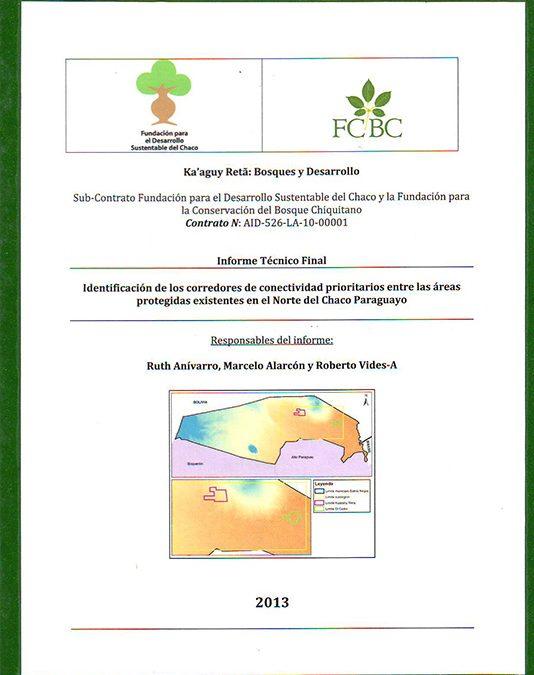 Identificación de los corredores de conectividad entre áreas protegidas del Norte del Chaco Paraguayo