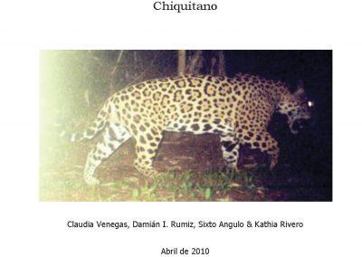 """Censo de Jaguares (Panthera onca) y otros mamíferos con trampas cámara en la Propiedad """"Alta Vista"""" del Bosque Seco Chiquitano"""
