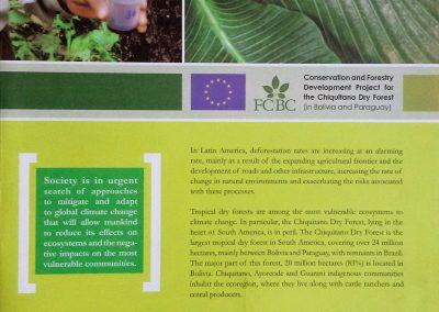 Folleto inglés Proyecto «Conservación y desarrollo forestal de la ecorregión del Bosque Seco Chiquitano»
