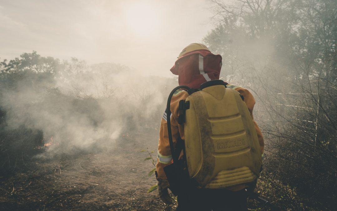 Brigadas comunales de primera respuesta atienden incendios forestales en la Chiquitania