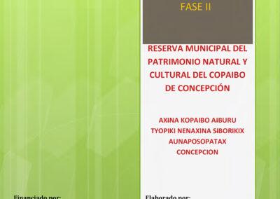Plan de Manejo de la Reserva Municipal de Copaibo Fase II