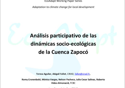 Análisis participativo de las dinámicas socio-ecológicas de la Cuenca Zapocó