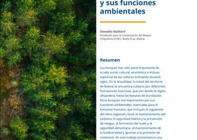 Los bosques de Bolivia y sus funciones ambientales