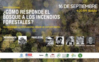 """Cinco especialistas darán disertaciones en el conversatorio """"¿Cómo responde el bosque a los incendios forestales?"""""""
